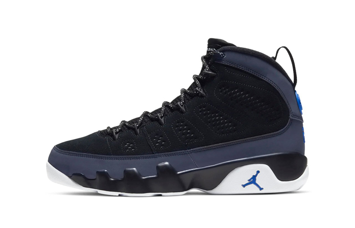 Air Jordan 9 Dressed Up With Black Velvet And Hyper Blue Colorways ft