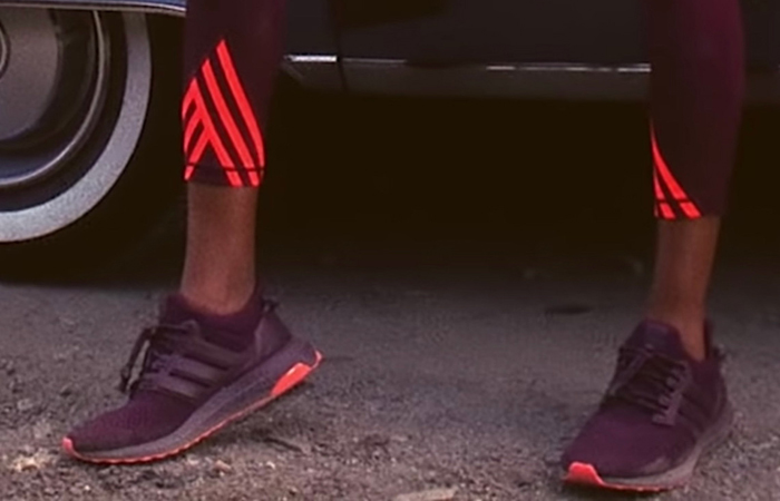Beyonce Ivy Park adidas Ultra Boost Maroon FX3163 on foot 01