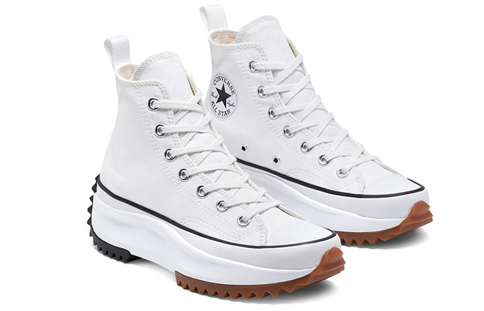 Converse Run Star Hike High White Black 166799C 03