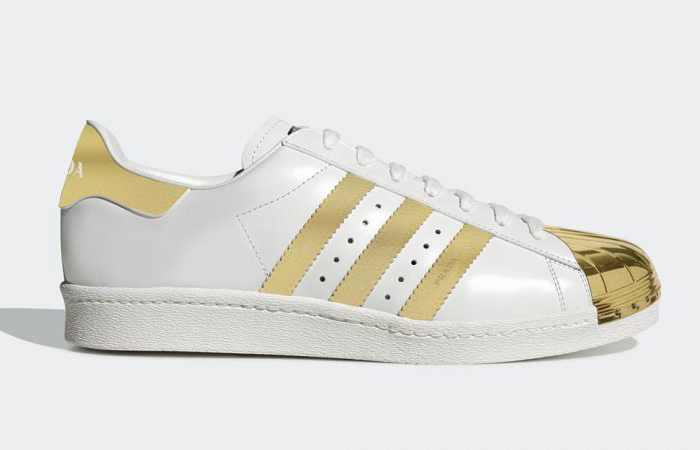 Get Your First Look At The Prada adidas Superstar Metallic Gold ft