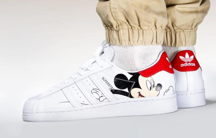 Perca Comercio Raramente  Mickey Mouse adidas Superstar White Red FW2901 – Fastsole