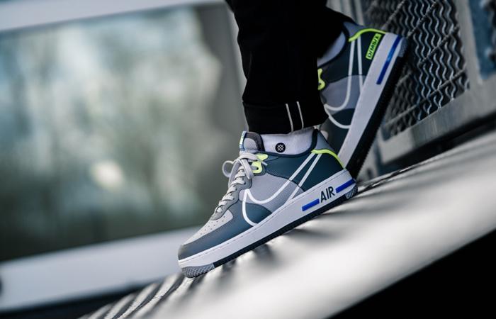 Nike Air Force 1 React DMSX Grey White CD4366-002 on foot 01