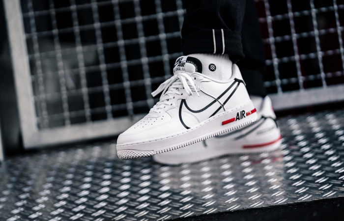 Nike Air Force 1 React DMSX White CD4366-100 on foot 02