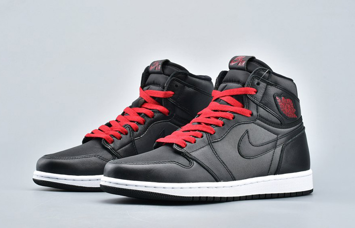 Nike Air Jordan 1 High Retro Black Satin 555088-060 05