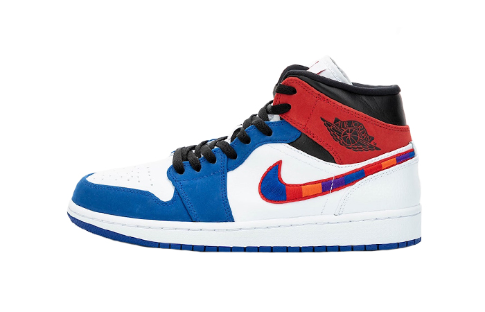 Nike Air Jordan 1 Mid Blue Red 852542-146 01