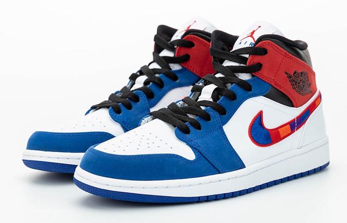 Nike Air Jordan 1 Mid Blue Red 852542-146 02