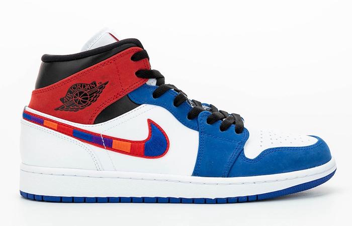 Nike Air Jordan 1 Mid Blue Red 852542-146 03