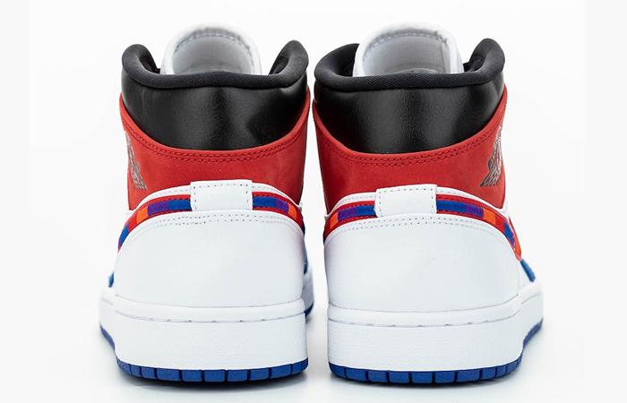 Nike Air Jordan 1 Mid Blue Red 852542-146 05