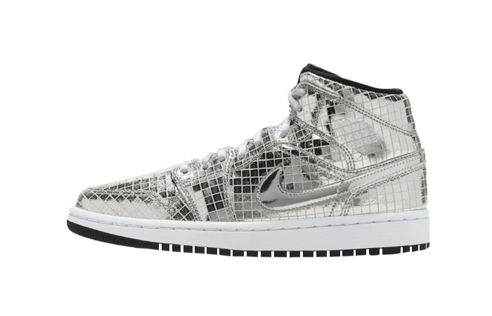 Nike Air Jordan 1 Mid Disco Ball Metallic Silver CU9304-001 01