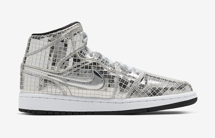 Nike Air Jordan 1 Mid Disco Ball Metallic Silver CU9304-001 03
