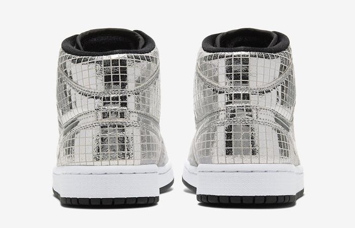 Nike Air Jordan 1 Mid Disco Ball Metallic Silver CU9304-001 05