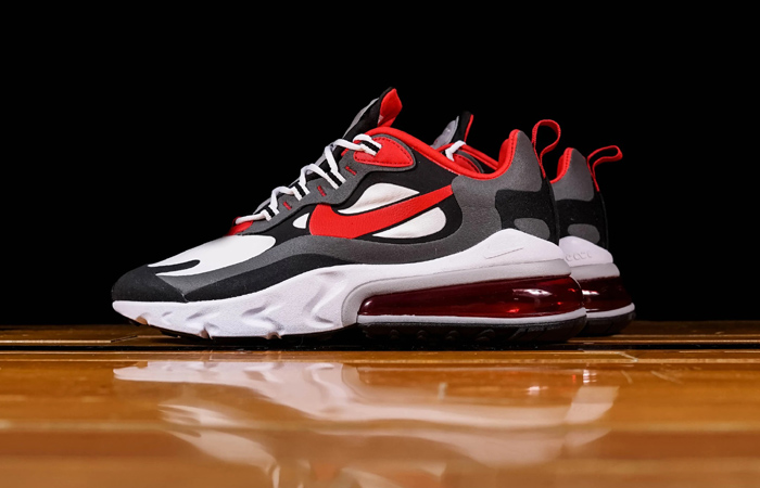 Nike Air Max 270 React Grey Red CI3866-002 02