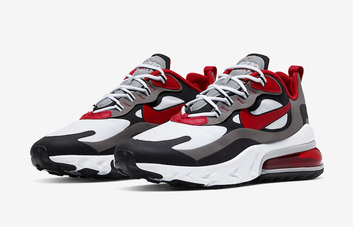 Nike Air Max 270 React Grey Red CI3866-002 05
