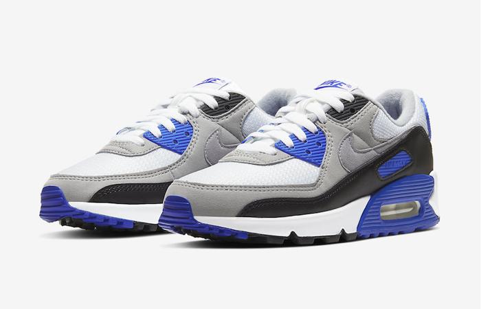 Nike Air Max 90 Grey Royal Blue CD0490-100 02