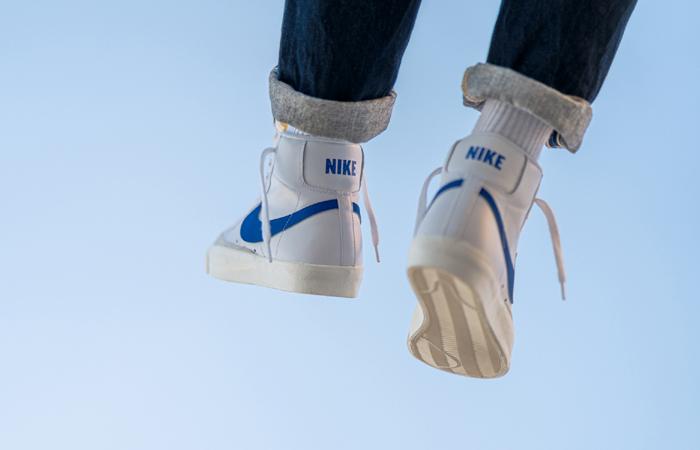 Nike Blazer Mid '77 Vintage Blue Swoosh BQ6806-103 on foot 03