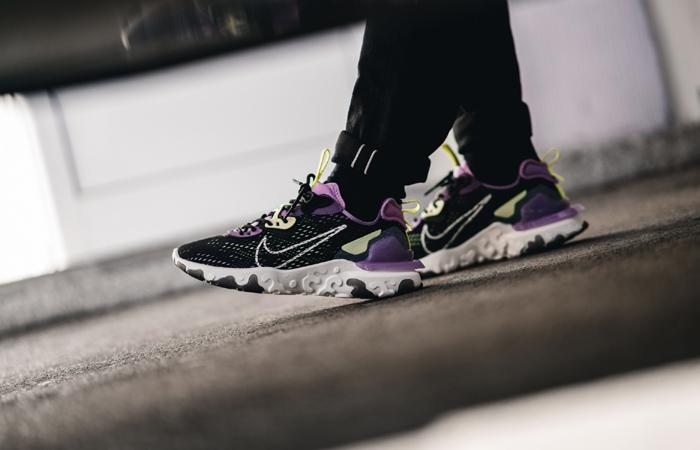 Nike React Vision Purple Black CD4373 002 on foot 01