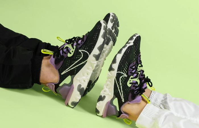 Nike React Vision Purple Black CD4373 002 on foot 02
