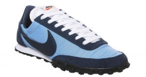 Nike Waffle Racer Trainers Green Nebula And Midnight Navy Available In Offspring!! 05