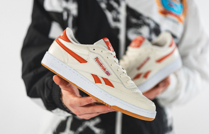 Reebok Club C Revenge White Orange FW3599 02
