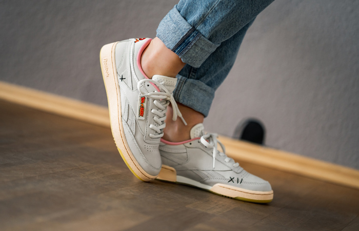 Tom & Jerry Reebok Club C White FW4681 on foot 01