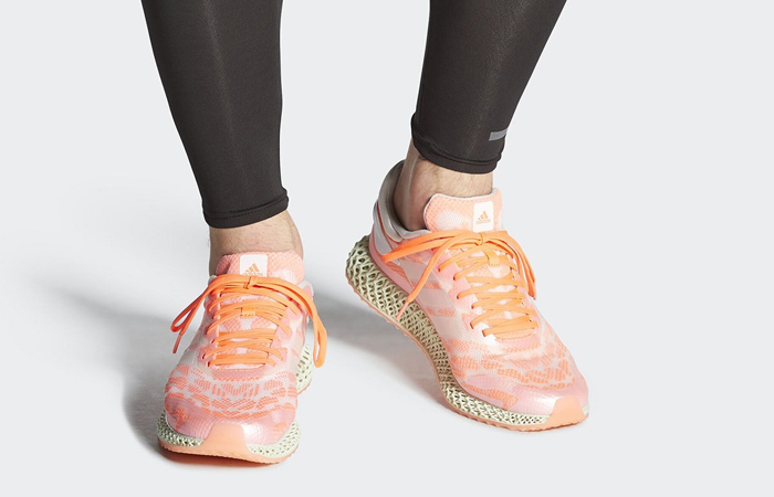 adidas Performance 4D Run 1.0 Pink White FW6838 on foot 01
