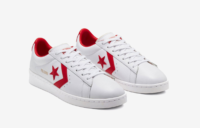 Converse Pro Leather Low Red White 167970C 02