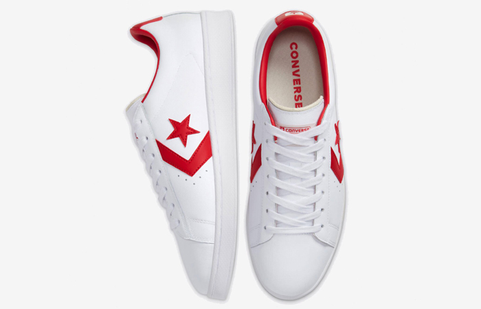 Converse Pro Leather Low Red White 167970C 04