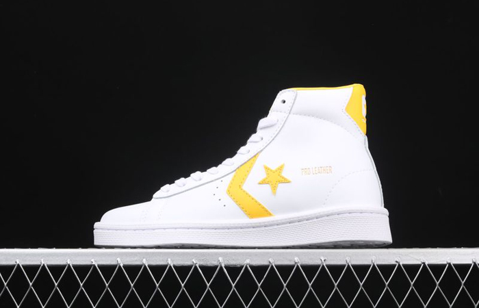 Converse Pro Leather Mid Yellow White 166812C 02