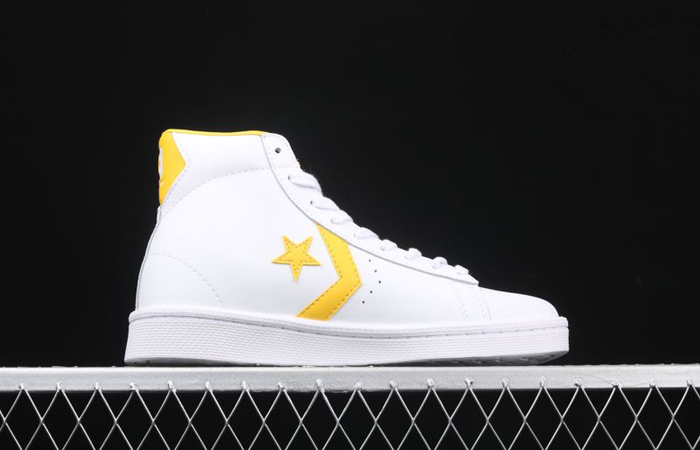 Converse Pro Leather Mid Yellow White 166812C 03