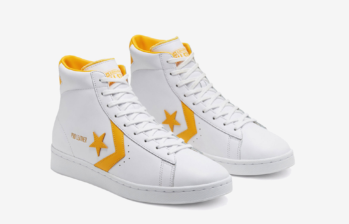 Converse Pro Leather Mid Yellow White 166812C 05