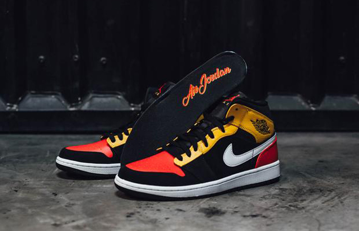 Jordan 1 Mid Amarillo Orange 852542-087 02