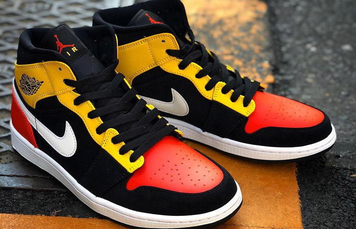 Jordan 1 Mid Amarillo Orange 852542-087 03