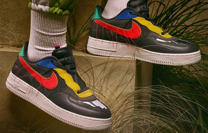 Nike Air Force 1 Black History Month Multicolour CT5534-001 on foot 01