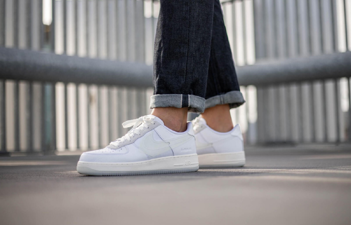 Nike Air Force 1 Low DNA Lucid White CV3040-100 on foot 01