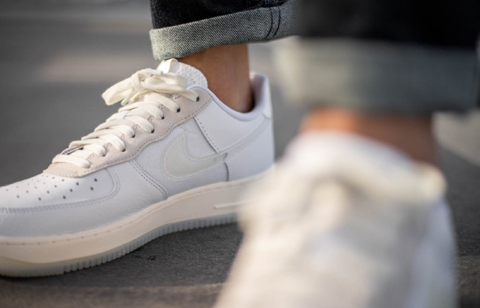 Nike Air Force 1 Low DNA Lucid White CV3040-100 on foot 02