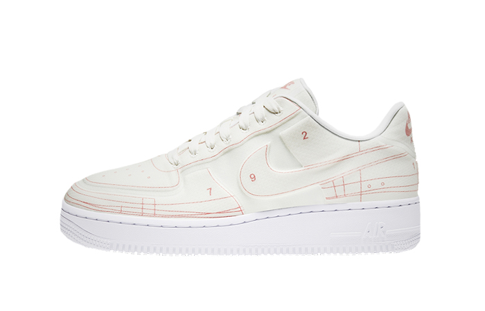 Nike Air Force 1 White University Red CI3445-100 01