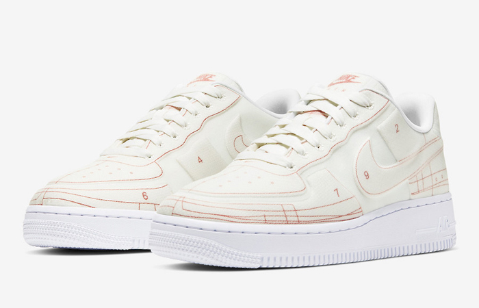 Nike Air Force 1 White University Red CI3445-100 02