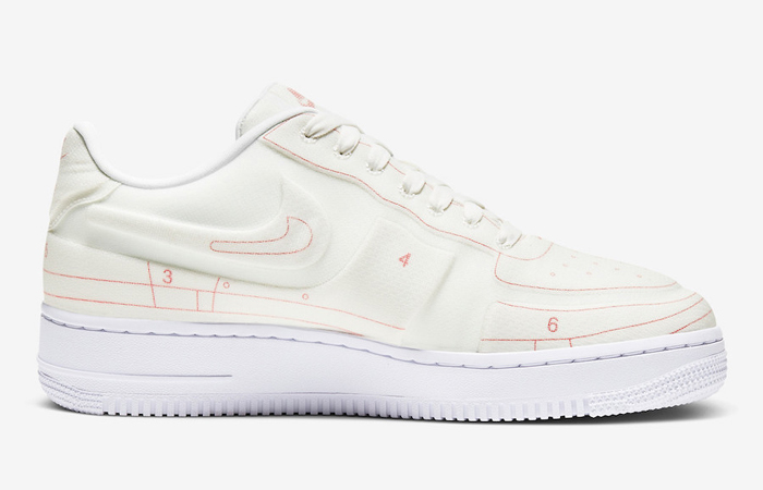 Nike Air Force 1 White University Red CI3445-100 03