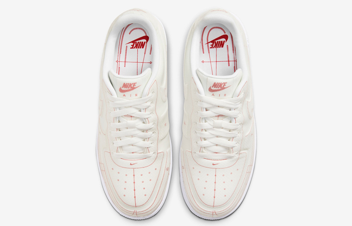 Nike Air Force 1 White University Red CI3445-100 04