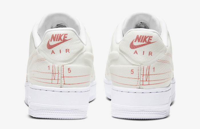 Nike Air Force 1 White University Red CI3445-100 05