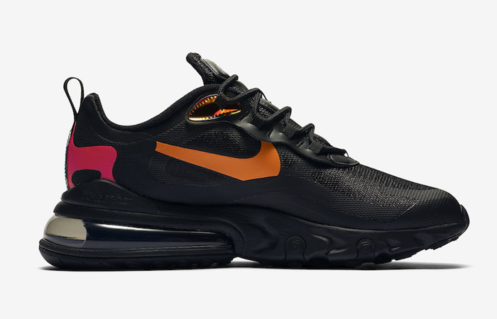 Nike Air Max 270 React Orange Black CV1641-001 03
