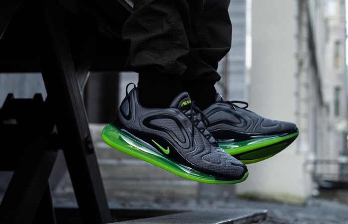Nike Air Max 720 Mesh Grey Green Volt CN9833-002 on foot 01