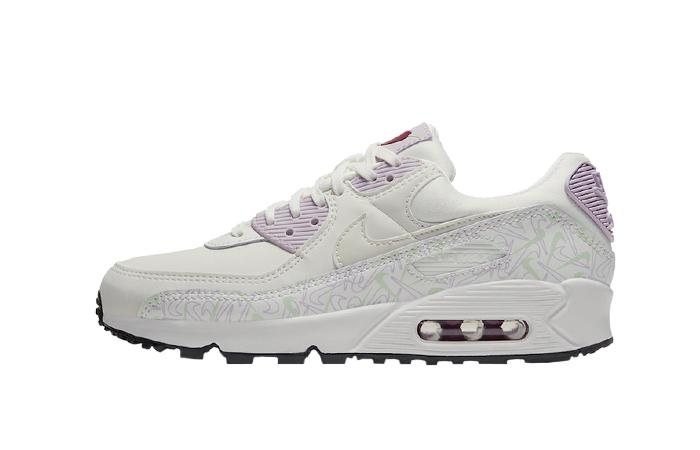 Nike Air Max 90 Valentines Day Purple White CI7395-100 01