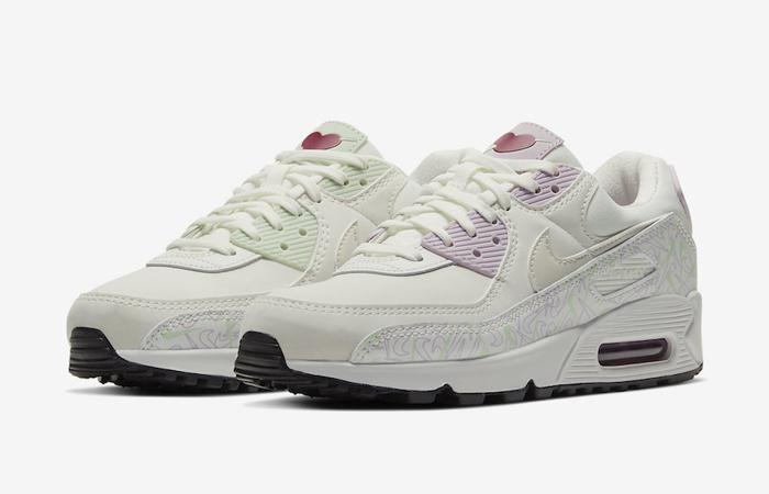 Nike Air Max 90 Valentines Day Purple White CI7395-100 02