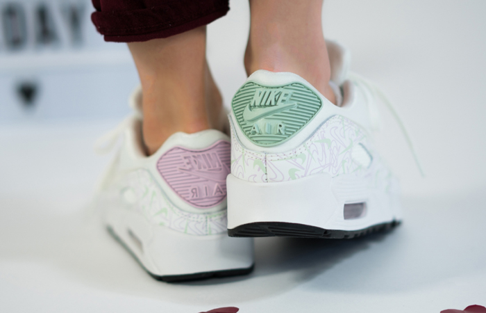 Nike Air Max 90 Valentines Day Purple White CI7395-100 on foot 03