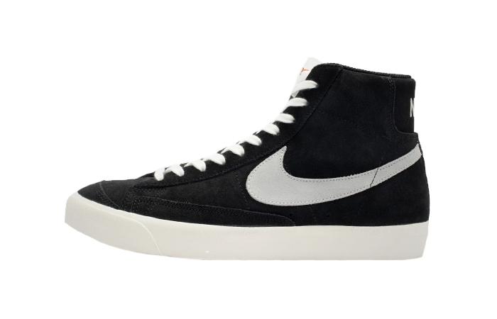 Nike Blazer Mid 77 Black Suede White CW2371-001 01