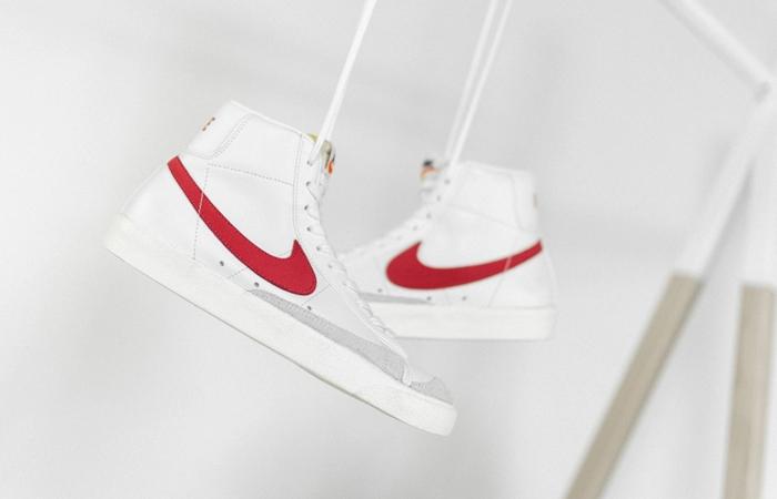 Nike Blazer Mid 77 Red Swoosh BQ6806-102 02
