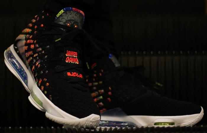 Nike LeBron 17 Black Multi BQ3177-005 on foot 01