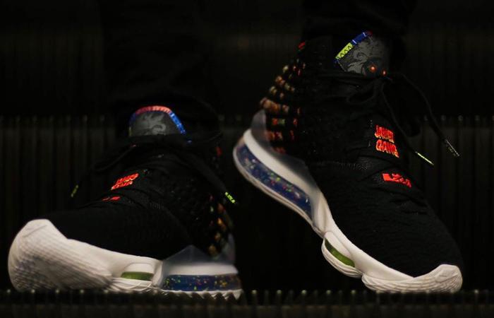 Nike LeBron 17 Black Multi BQ3177-005 on foot 02