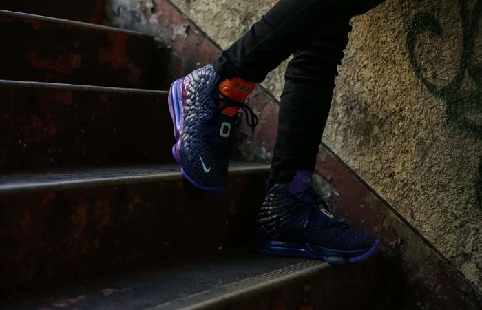 Nike LeBron 17 Monstars Berry CD5050-400 on foot 01